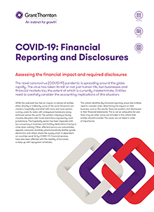 COVID-19 Financial Reporting and disclosures cover image