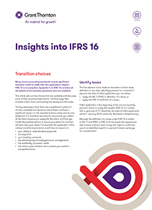 IFRS 16 - Transition choices cover image