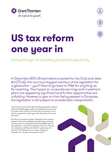 Cover image of US tax reform article
