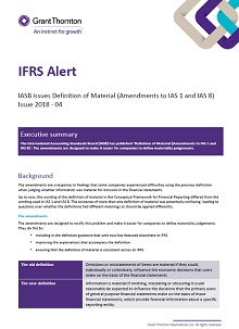 IASB issues Definition of Material (Amendments to IAS 1 and 8)